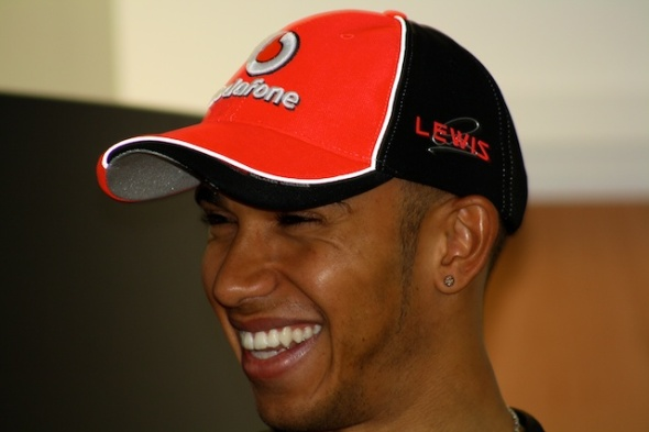 Lewis Hamilton Laughing