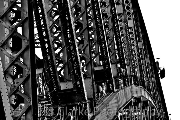 Sydney Harbour Bridge Black and White